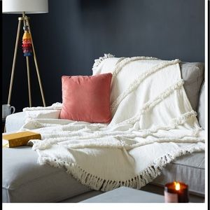 Uncommon James Handmade Fringed Throw with Tassels